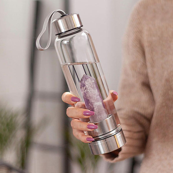 Natural Crystal Infused Healing Water Bottle