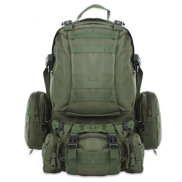 ARMY GREEN OUTLIFE TACTICAL ARMY HIKING BACKPACK