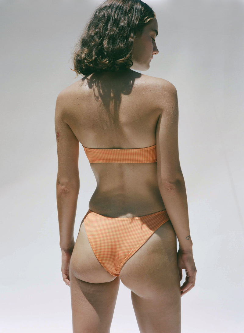 Otis Bottom - Orange Gingham