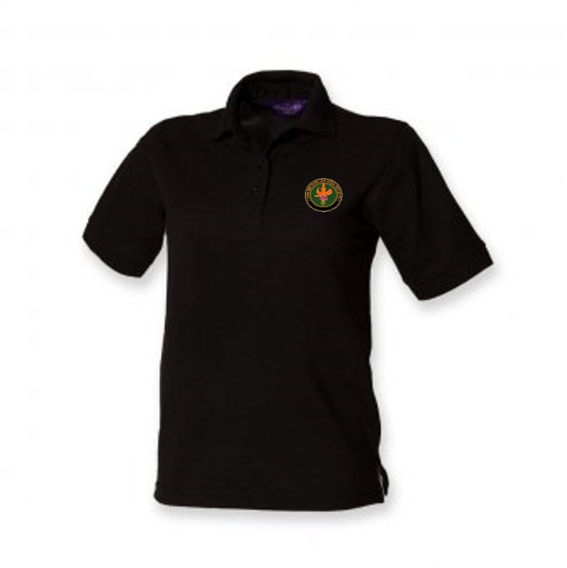 BFS Women's Black Polo Shirt | The Hockey Centre