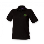 BFS Women's Black Polo Shirt