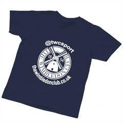 Women's T-Shirts Navy (White Print)