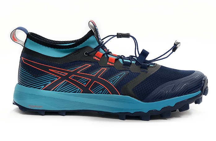 ASICS FujiTrabuco PRO Women 2019 Navy Orange Aqua Side