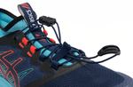 ASICS FujiTrabuco PRO Women 2019 Navy Orange Aqua Lace Detail