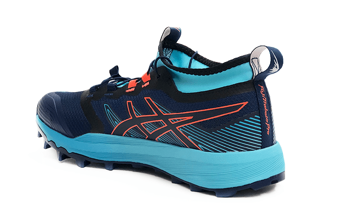 ASICS FujiTrabuco PRO Women 2019 Navy Orange Aqua Heal