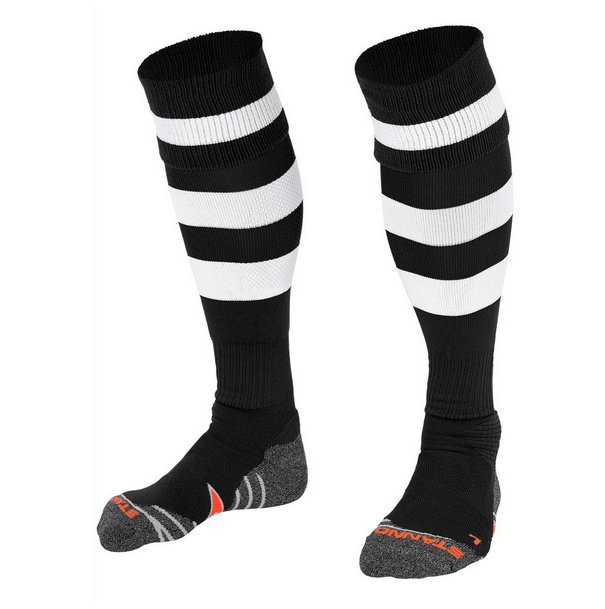 Black with White Stripe Sock