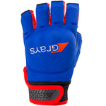 Touch Glove Navy | Fluro Red Left Hand