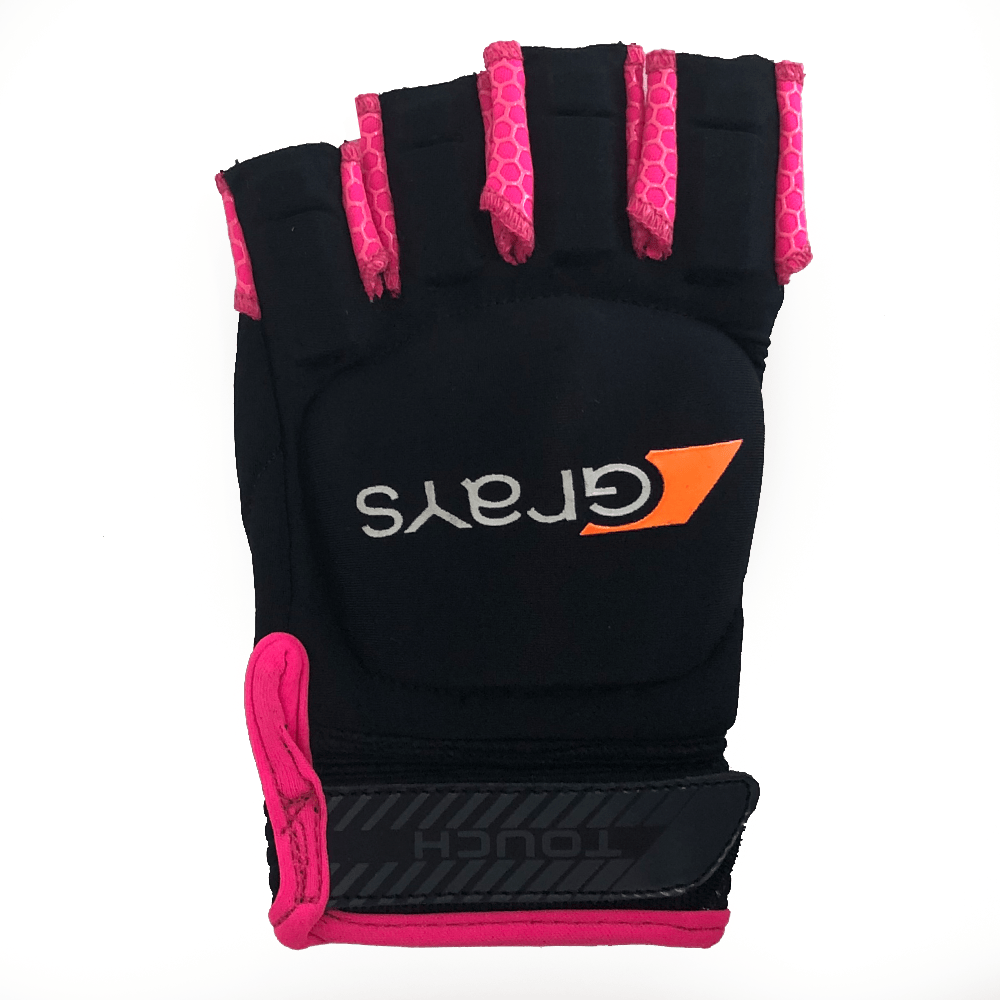 Grays Hockey Touch Glove Right Hand Black Pink Back
