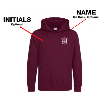MKHC Juniors Burgundy Hooded Top