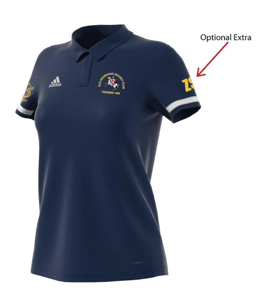 OGHC T19 Womens Adidas Polo Shirt - Navy