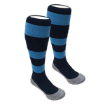 Staines Hockey Playing Socks Navy/Sky HOME