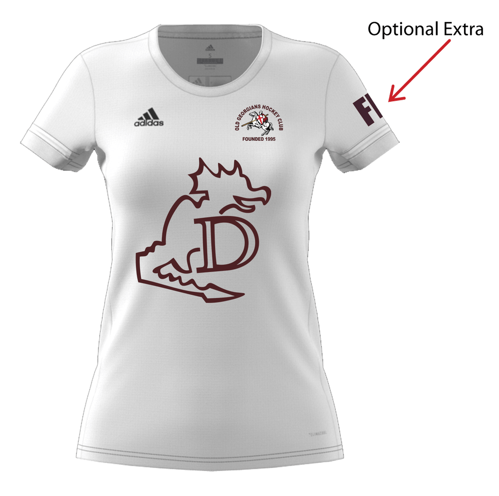 OGHC T19 Womens Adidas T-shirt - White