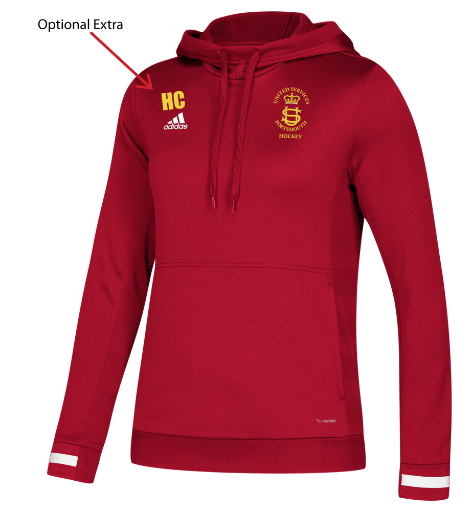 USP Womens Adidas Red Hooded top | The Hockey Centre
