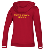 USP Womens Adidas Red Hooded top