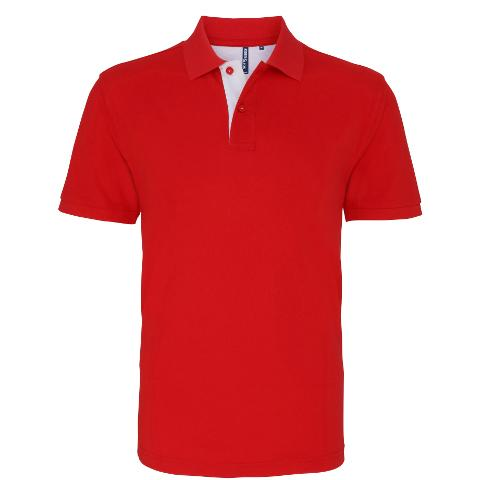 AQ012 Men's contrast polo | The Hockey Centre
