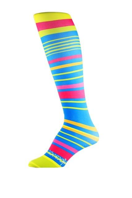Colourful Stripe Performance Liner Sport Sock