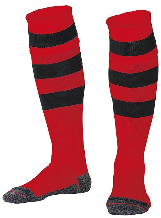Red & Black Hoops Original Sock | The Hockey Centre