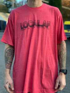 Local AF Half Toned Tee - Red