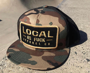 Stacked Patch Camo Snap Back