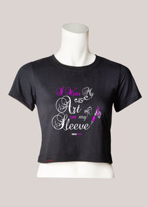 ART ON MY SLEEVE Women's Tattoo Cropped T-Shirt