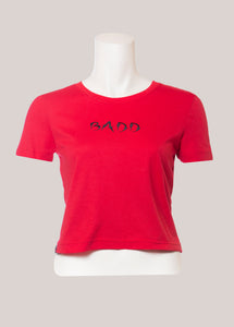 BADD Logo Women's Cropped T-Shirt Red