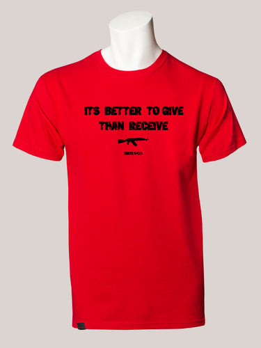 BETTER TO GIVE THAN RECEIVE Men's T-Shirt Red