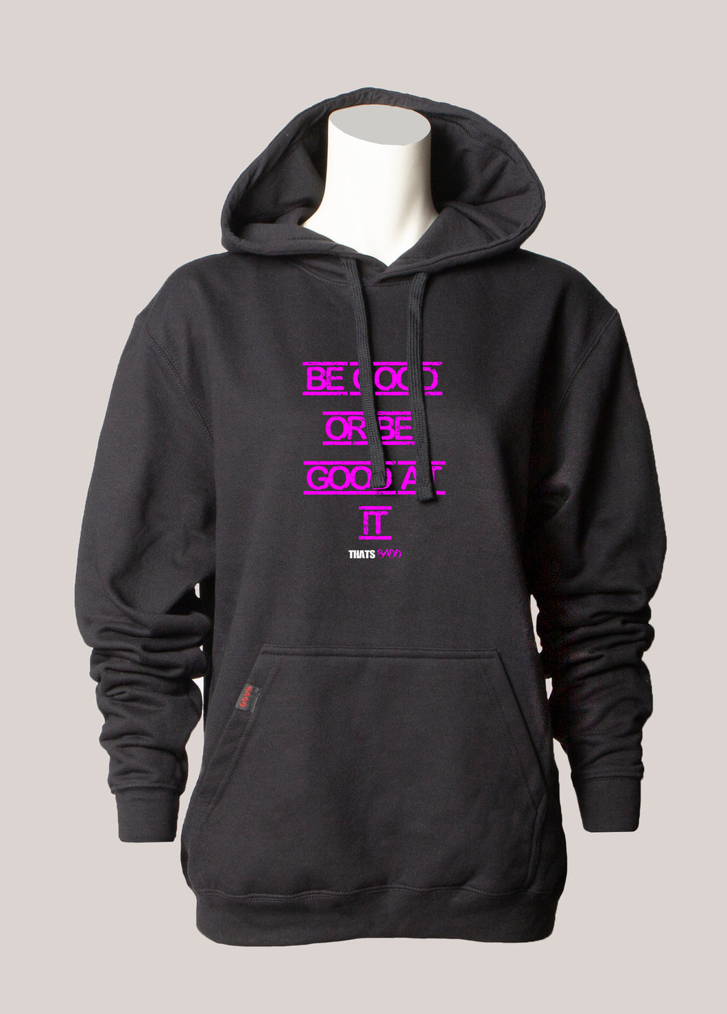 BE GOOD AT IT Women's Hoodie Black