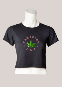 CANADIAN LEGAL Women's Marijuana Cropped T-Shirt