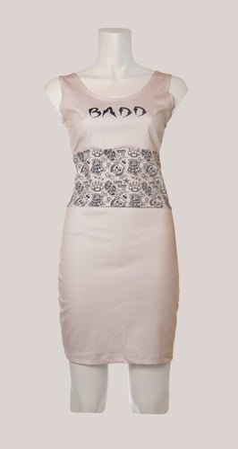 BADD Tattoo Print Dress