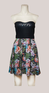 BADD Flower Print Strapless Dress