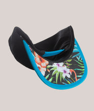 Load image into Gallery viewer, BADD Flower Print Bow Snapback Black/Blue
