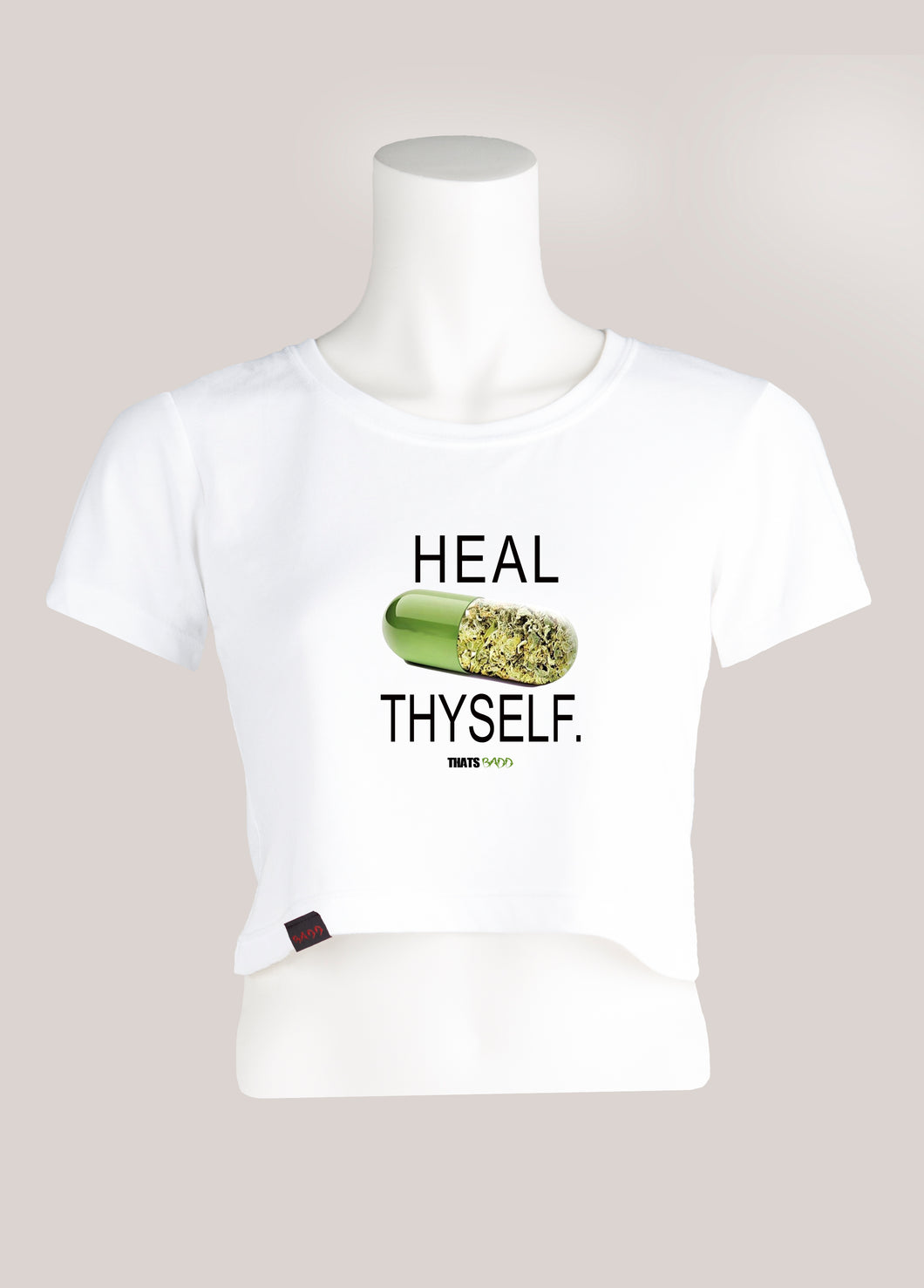 HEAL THYSELF Women's Marijuana Cropped T-Shirt
