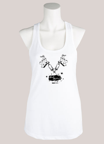 INK ADDICT Women's Tattoo Racerback Tank