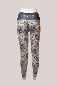 BADD All Over Tattoo Print Leggings Tan