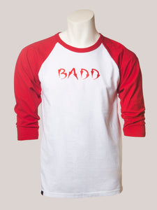 BADD Logo Men's Baseball Tee Red