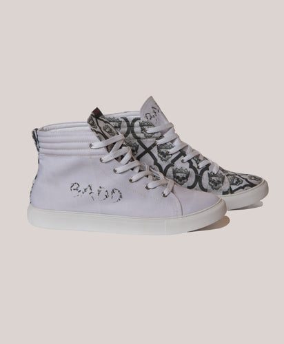 BADD Men's Skull Print High Top Sneakers
