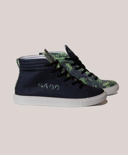 BADD Men's Marijuana Print High Top Sneakers