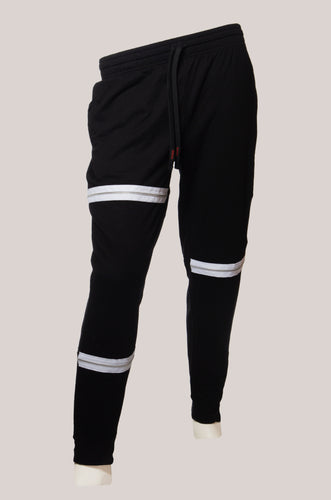 BADD Logo Men's Zipper Sweatpants Black