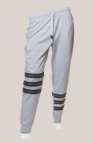 BADD Logo Men's Zipper Sweatpants Grey