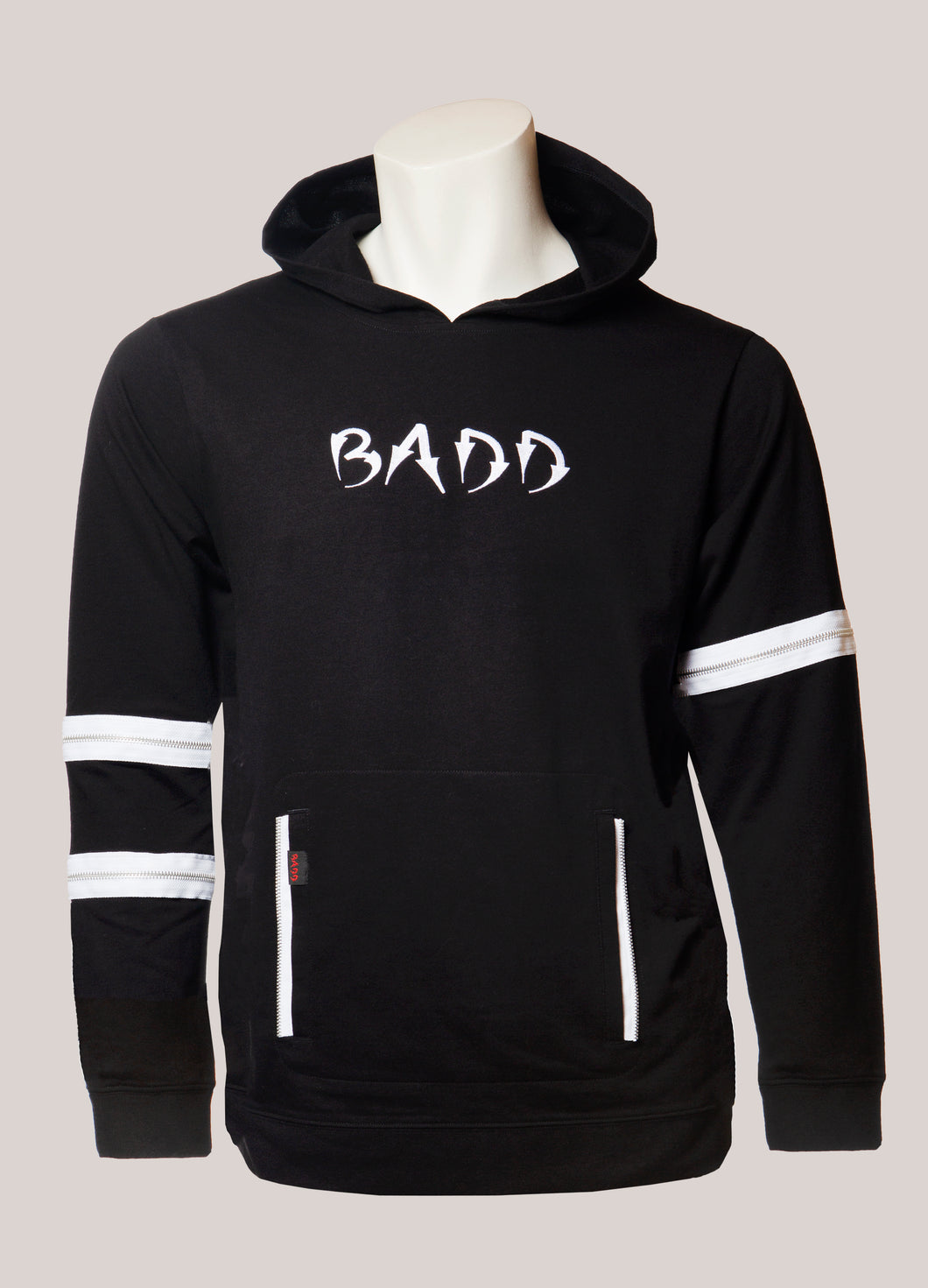 BADD Logo Men's Lightweight Zipper Hoodie Black
