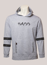 Load image into Gallery viewer, BADD Logo Men's Lightweight Zipper Hoodie Grey