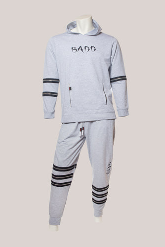 BADD Logo Men's Zipper Sweatsuit Grey