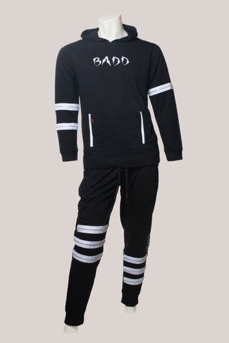 BADD Logo Men's Zipper Sweatsuit Black