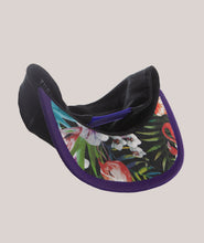 Load image into Gallery viewer, BADD Flower Print Bow Snapback Black/Purple