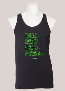 ROLL PUFF PASS REPEAT Men's Marijuana Tank Black