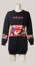 Load image into Gallery viewer, BADD Flower Print Sweater Dress Black