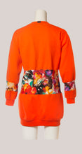 Load image into Gallery viewer, BADD Flower Print Sweater Dress Orange