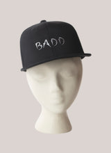 Load image into Gallery viewer, BADD Snapback Hat Black-Grey Logo