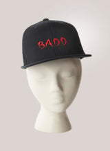 Load image into Gallery viewer, BADD Snapback Hat Black-Red Logo