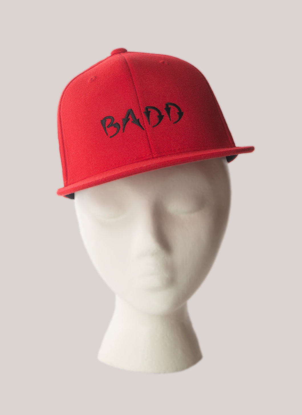 BADD Snapback Hat Red-Black Logo